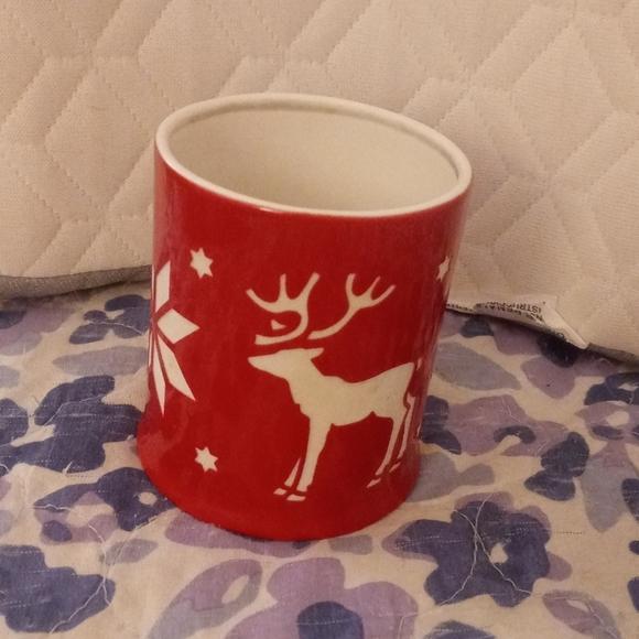 PartyLite Reindeer & Snowflake Votive Holder